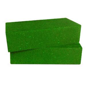 Кирпич декоративный гладкий зелёный
